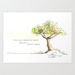 Tree with poem Art Print