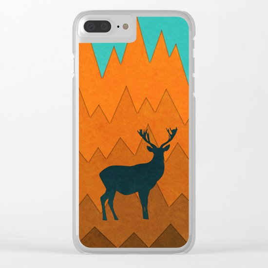 Deer silhouette in autumn Clear iPhone Case