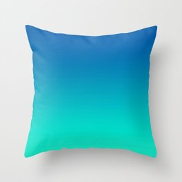 Teal Mint Ombre Throw Pillow