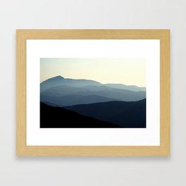 Blue And White Framed Art Print