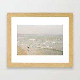 Hazy Surf Framed Art Print