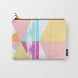 Triangular collage Carry-All Pouch