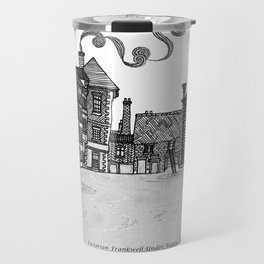 Victorian Frankwell Under Water, black and white Travel Mug