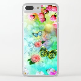 Floral Fantasy 9 Clear iPhone Case
