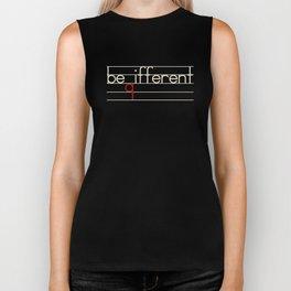 Be Different Typography Design Biker Tank