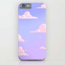 Pink Clouds Purple Sky Lo Fi iPhone Case