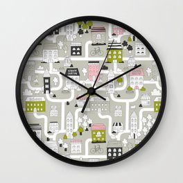 City map Wall Clock