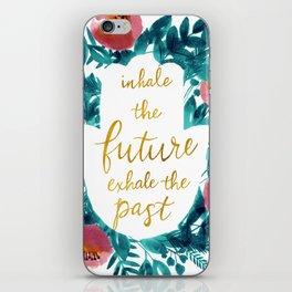 Inhale the Future in Blue iPhone Skin
