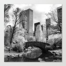 Central Park Bridge. Canvas Print