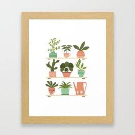 Plant Shelves Framed Art Print