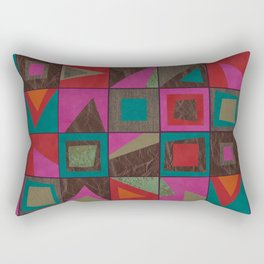 squares of colors and shreds Rectangular Pillow