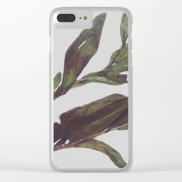 Olive Wings Clear iPhone Case