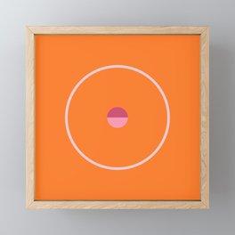 catch    orange & peach blossom Framed Mini Art Print