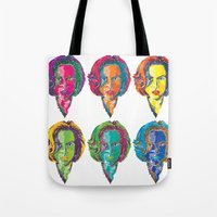 dana scully Tote Bags featuring Dana Scully by Sam Del Valle