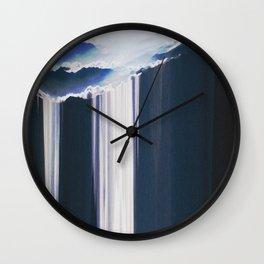mountain glitch Wall Clock