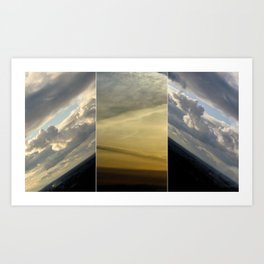 2 sunsets in one Art Print