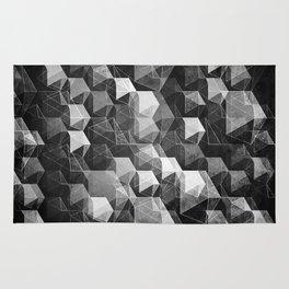 as the curtain falls (monochrome series) Rug