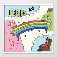 lsd Canvas Prints featuring LSD by My Big Fat Brand