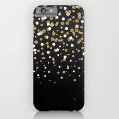 Pretty modern girly faux gold glitter confetti ombre illustration Slim Case iPhone 6s