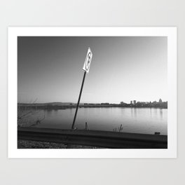 Pollution Permitted B&W Art Print