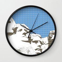 Mount Rushmore - Blue Wall Clock