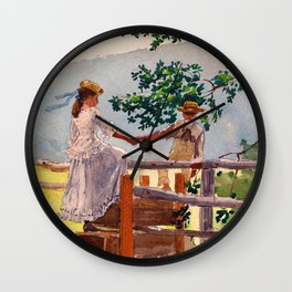12,000pixel-500dpi - Winslow Homer1 - On The Stile - Digital Remastered Edition Wall Clock