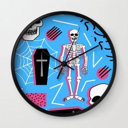 Halloween- Memphis style Wall Clock