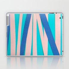 Pink & Blue Stripes on Turquois Laptop & iPad Skin