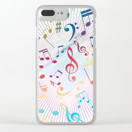 Musical Notes IX Clear iPhone Case