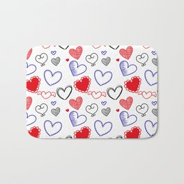 Draw hearts Bath Mat