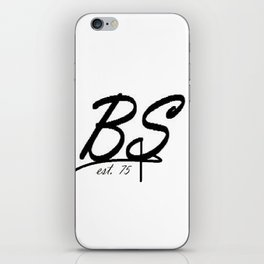 BS logo iPhone Skin