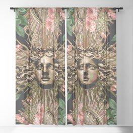 Rose Garden Gate Sheer Curtain