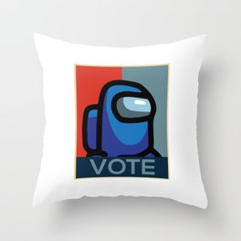 Vote Imposter Among Us Throw Pillow