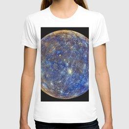 Planet Mercury Deep Space Mission Photograph T-shirt