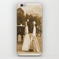 battlefield iPhone & iPod Skins featuring Strolling on the Battlefield by Frankie Cat