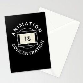 Animation is concentration Disk Stationery Cards