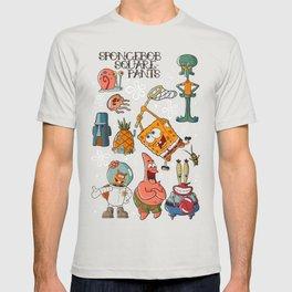 Sailor Jerry Spongebob Tattoo Sheet T-shirt