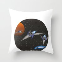 starfox Throw Pillows featuring Starwing / Starfox by SuperPixelTime!