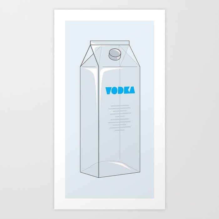 Vodka in a box Art Print