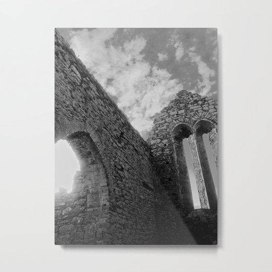 Corcomeroe Abbey Arch Metal Print