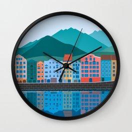 Innsbruck Austria Children's Artwork Wall Clock