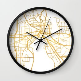 JACKSONVILLE FLORIDA STREET MAP ART Wall Clock