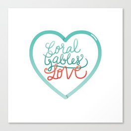 Coral Gables Love Canvas Print