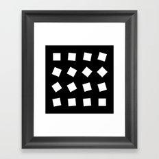 B/W square rotation Framed Art Print