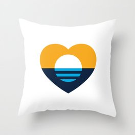 Heart of MKE - People's Flag of Milwaukee Throw Pillow