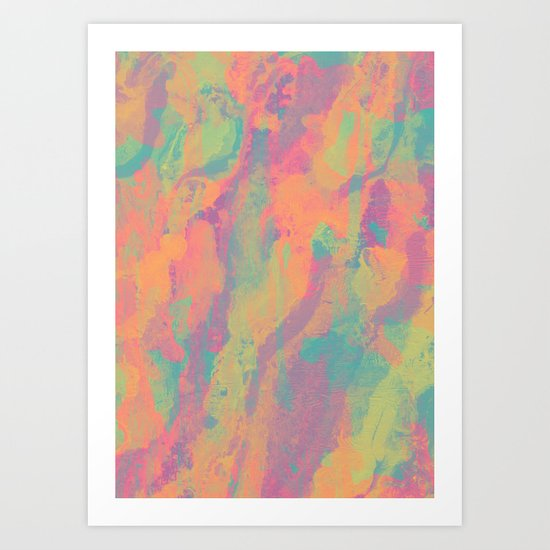 Neon marble II Art Print