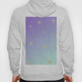 Floral Pattern Yellow Hoody