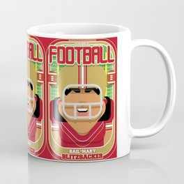 American Football Red and Gold - Hail-Mary Blitzsacker - Indie version Coffee Mug