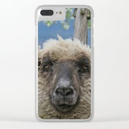 Disappointed sheep Clear iPhone Case