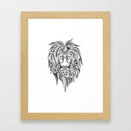 Lion | Abstract Digital Design Framed Art Print
